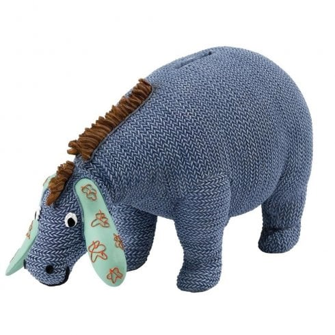 Classic Pooh Eeyore Wobble Head Money Bank Knitted