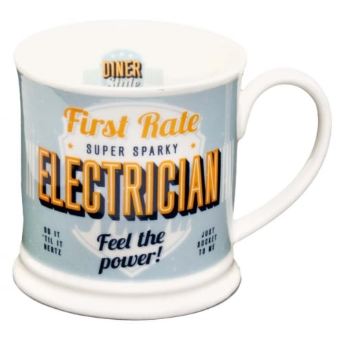 Diner Style Mugs Electrician