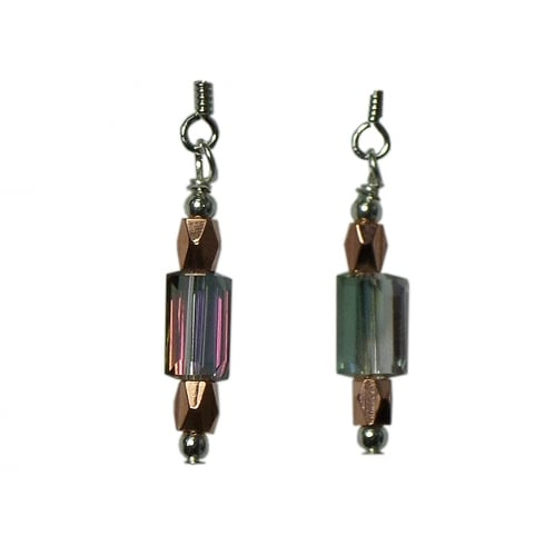 Arran Bay Electroplated Grey Crystal Sterling Silver Earrings