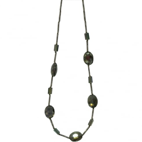 Arran Bay Electroplated Olive Crystal & Glass Necklace
