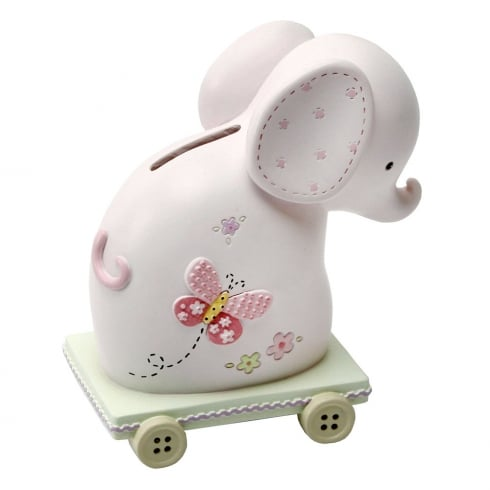 Impressions By Juliana Elephant Money Bank Pink