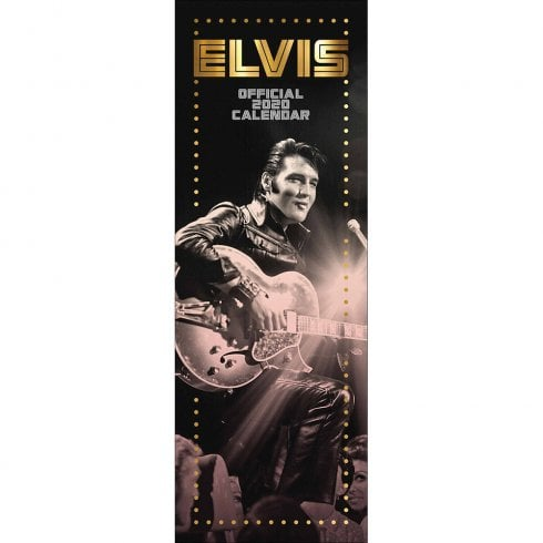 Otter House Elvis Official 2020 Slim Calendar