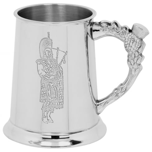 Piper Pewter Embossed Piper Tankard 1 Pint