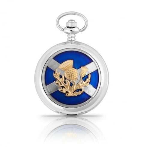 A E Williams Enamelled Saltire Pocket Watch