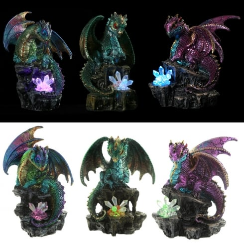 Puckator Enchanted Nightmare Dragon LED Crystal Soothsayer