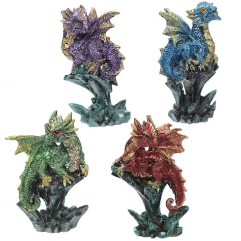 Puckator Enchanted Nightmare Dragon - Mini Rock Crystal
