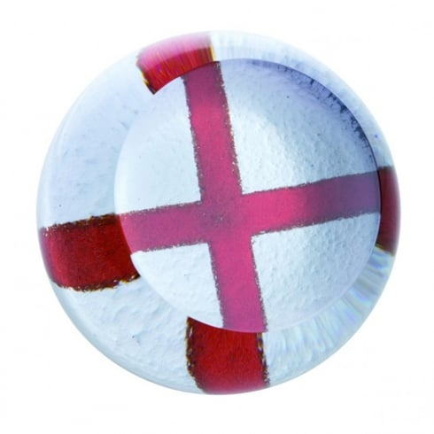 Caithness Glass English Cross Of St George Paperweight