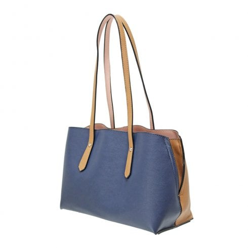 Envy Bags Envy 171 Shoulder Bag With Contrast Panels Navy