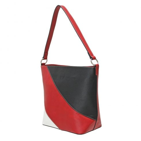Envy Bags Envy 174 Zip Top Shoulder Bag Red