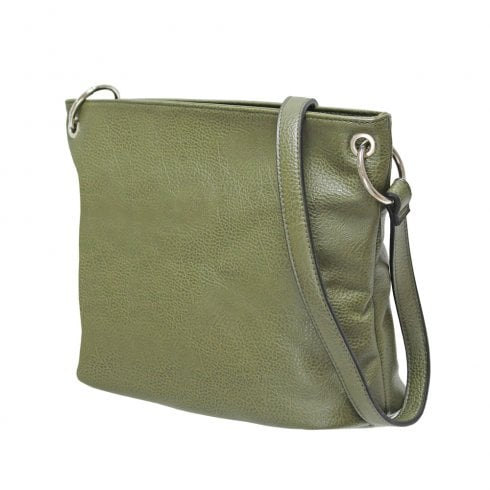 Envy Bags Envy 194 Block Colour Shoulder Bag Khaki