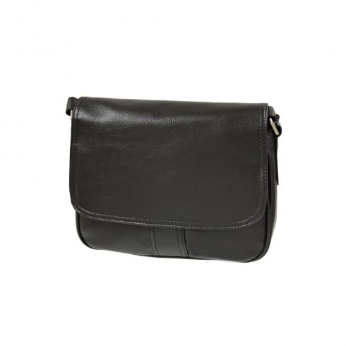 Envy Bags Envy NV206 Flapover Shoulder Bag Black