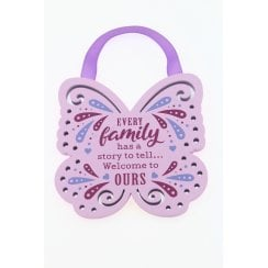 Every Family Has A Story Hanging Plaque