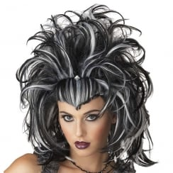 Evil Sorceress Wig Black/White