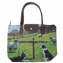 Ewe Take The Left Foldaway Tote Bag