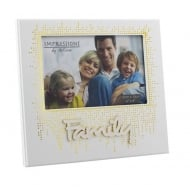 Family Gold Dot Design 6 x 4 Photo Frame