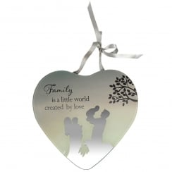 Family World Mirror Plaque