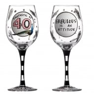 Fantastic At 40 Wine Glass