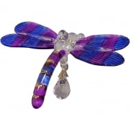 Fantasy Glass Dragonfly Purple