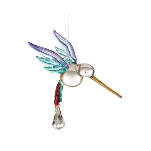 Wild Things Gifts Fantasy Glass Hummingbird Rainbow
