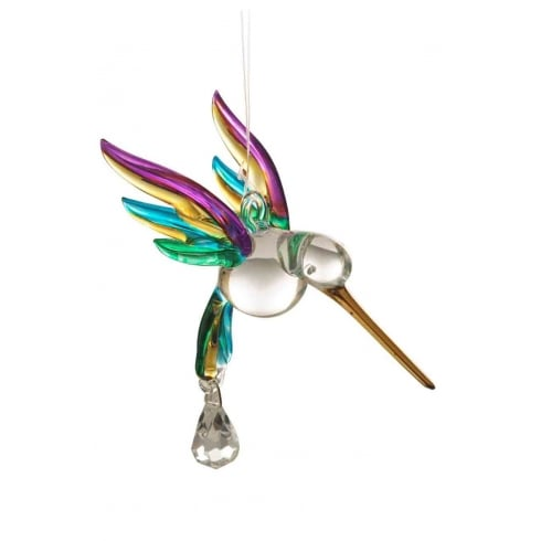 Wild Things Gifts Fantasy Glass Hummingbird Tropical