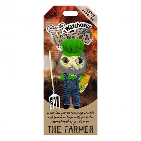 Watchover Voodoo Dolls Farmer Voodoo Doll Keychain Bag Tag
