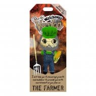 Farmer Voodoo Doll Keychain Bag Tag