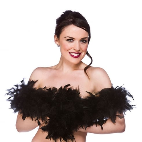Wicked Costumes Feather Boa Black