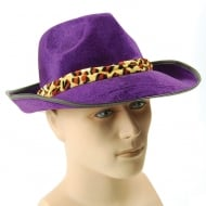Fedora Velvet Purple Hat