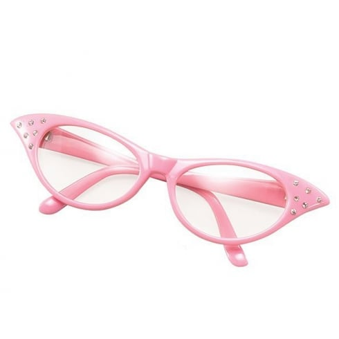 Bristol Novelty Female 50s Glasses Pink