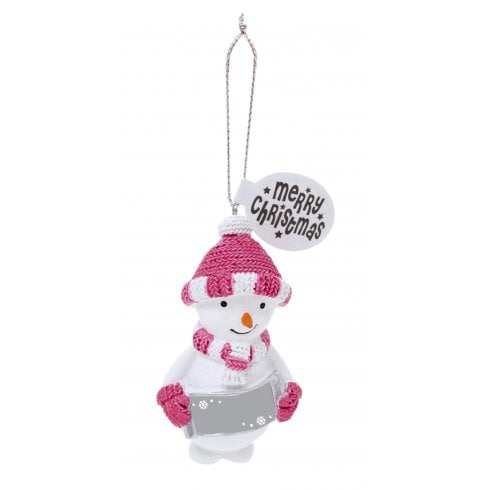 History & Heraldry Festive Friends Hanging Tree Decoration - Blank Snowgirl