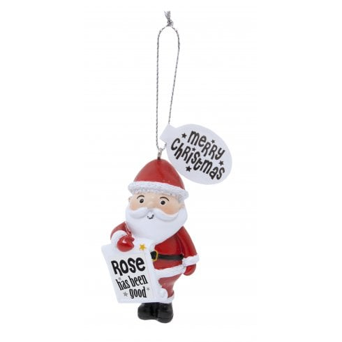 History & Heraldry Festive Friends Hanging Tree Decoration - Rose