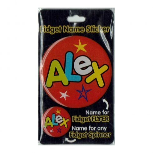 History & Heraldry Fidget Name Sticker Alex