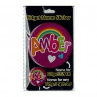 Fidget Name Sticker Amber