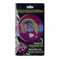 Fidget Name Sticker Charlotte