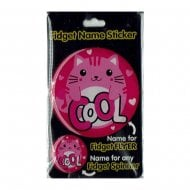 Fidget Name Sticker Cool Cat