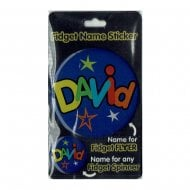 Fidget Name Sticker David