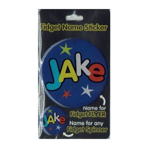History & Heraldry Fidget Name Sticker Jake
