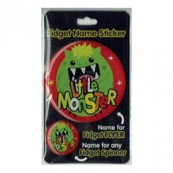 Fidget Name Sticker Little Monster
