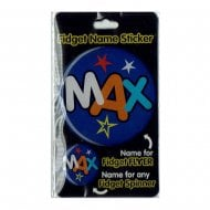 Fidget Name Sticker Max