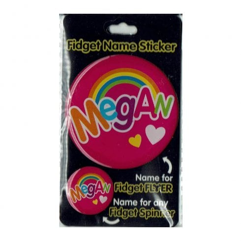 History & Heraldry Fidget Name Sticker Megan
