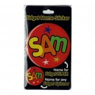 Fidget Name Sticker Sam