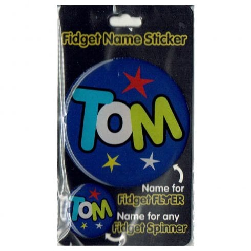 History & Heraldry Fidget Name Sticker Tom