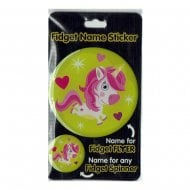 Fidget Name Sticker Unicorn
