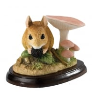 Field Mouse With Berry Figurine