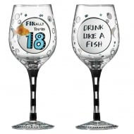 Finally Youre 18 Wine Glass