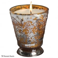 Fleur De Lys Container with Cinnamon Tree Fragrance Candle