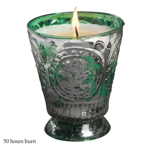 Himalayan Fleur De Lys Container with Mistletoe Fragrance Candle