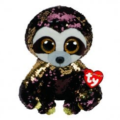 Flippables Dangler Sloth Medium Size Sequins Soft Toy
