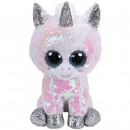 Flippables Diamond White Unicorn Medium Size Sequins Soft Toy