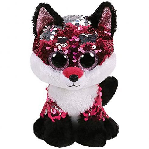 TY Flippables Jewel Fox Medium Size Sequins Soft Toy